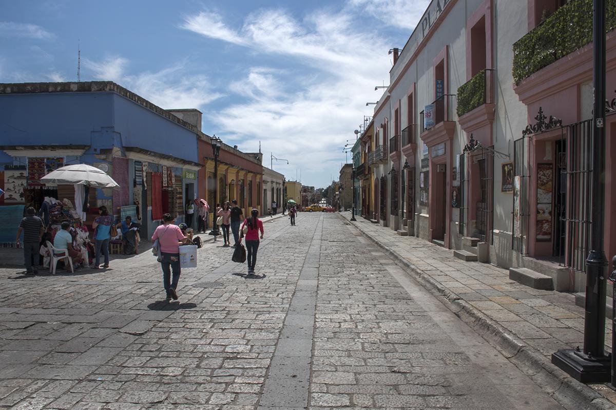 Andador (pedestrian street) in Oaxaca