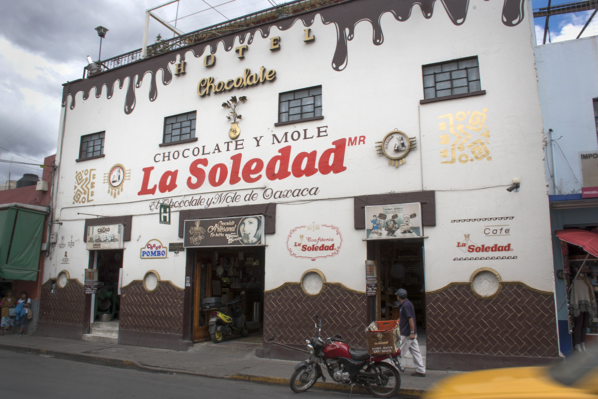 La Soledad chocolate and mole store.