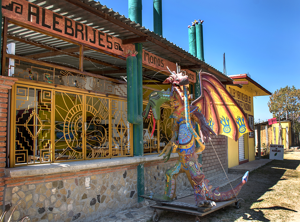 Alebrije workshop on the road to San Martin Tilcajete