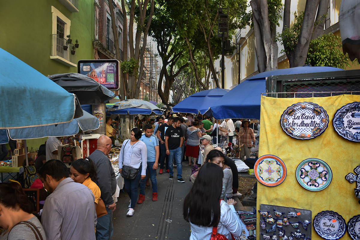 Sunday outdoor market on one of several pedestrian-only streets near our AirBnB.