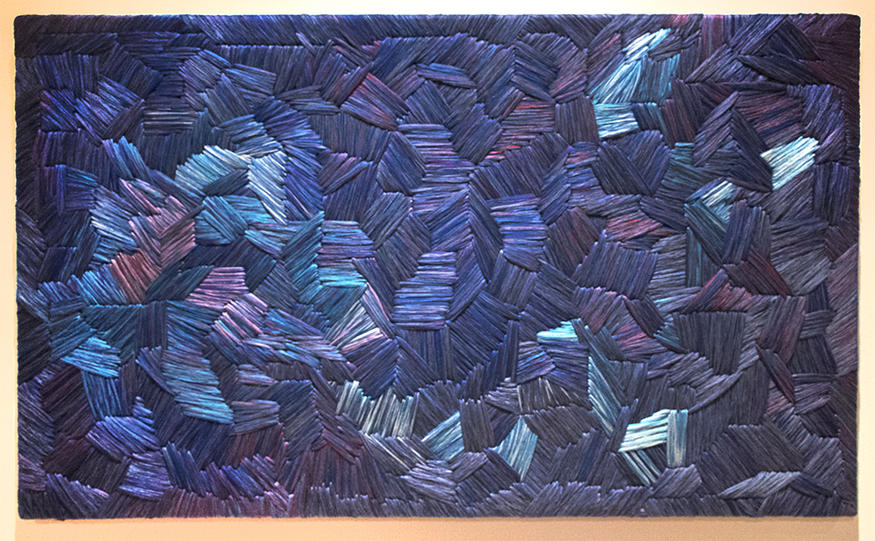 A creation from the Textile Art exhibit at the Amparo Museum.