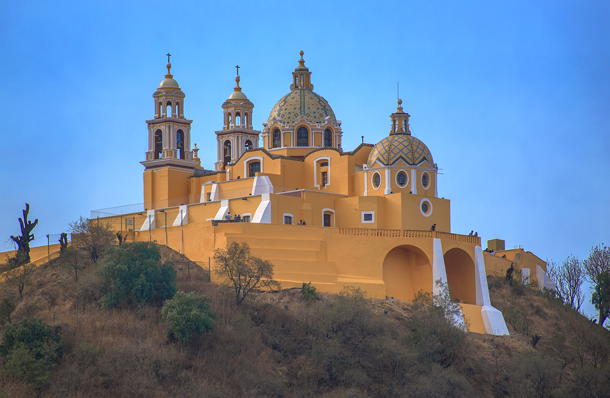 Church of Our Lady of Remedies atop the Great Pyramid of Cholula, Mexico