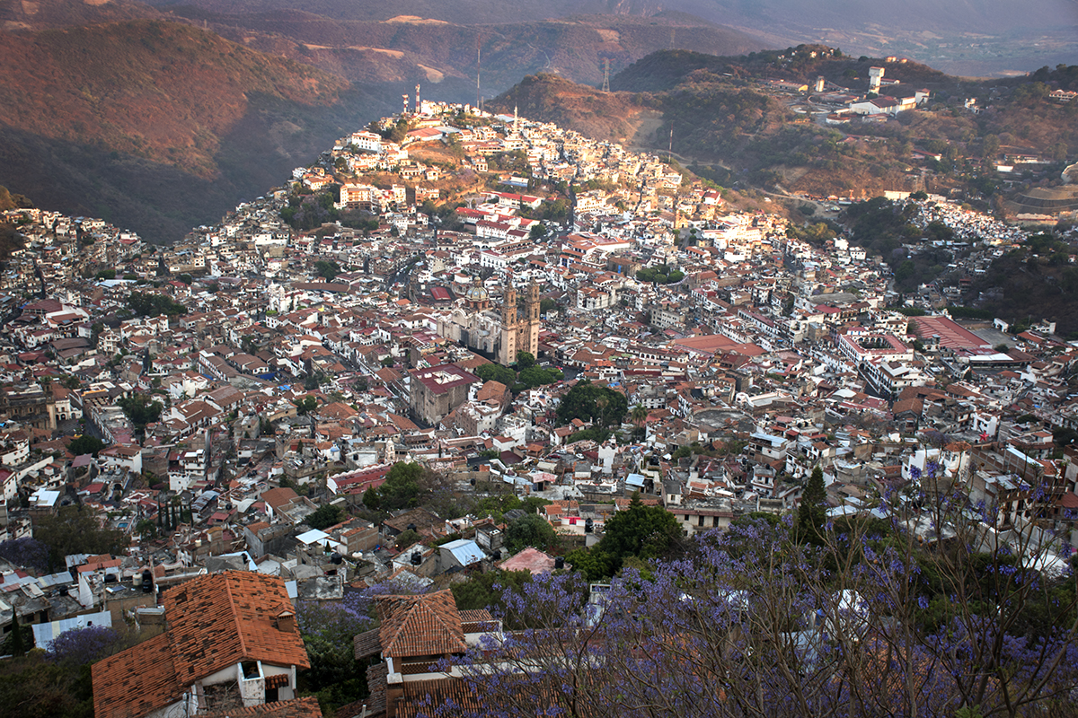 Looking down on the town from the Christ statue above Taxco.